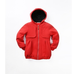 Girls fleece warm coat with hood
